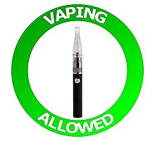 Vaping Allowed Sign Photographic Print