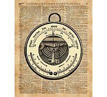 Barometer Vintage Tool Dictionary Art Photographic Print