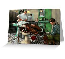 Barber - Shave - Pennepacker's barber shop 1942 Greeting Card
