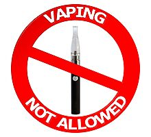 Vaping Not Allowed Sign Photographic Print