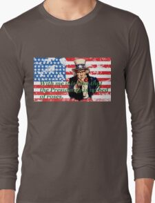 Vote 2016 - With me it is true that the Presidency is no bed of roses. Long Sleeve T-Shirt