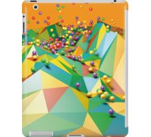 Low Polygon Landscape with Balls iPad Case/Skin