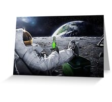 Have a beer on the moon Greeting Card