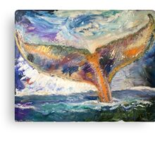Whale Tail Colorful Canvas Print