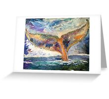 Whale Tail Colorful Greeting Card