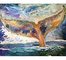 Whale Tail Colorful Photographic Print