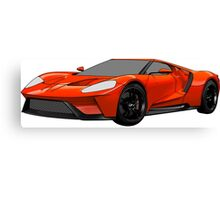 2016 Ford GT, Forza 6 Motorsport Game Cover Car, Black with Red colour Fill Canvas Print