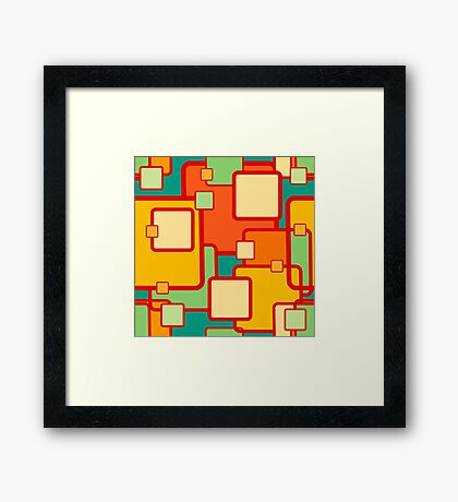 abstract geometrical seamless pattern Framed Print