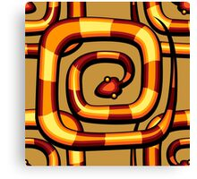 abstract serpent pattern Canvas Print