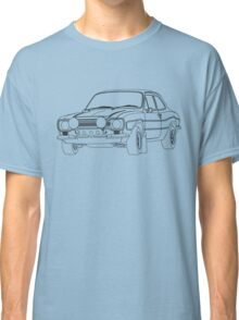 1970 Ford Escort RS2000 Fast and Furious Paul Walker's car Black Outline no fill. Classic T-Shirt