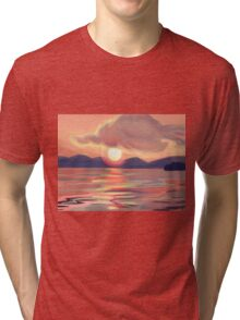 Pink Sunset Tri-blend T-Shirt