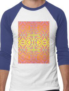 Fractal Art Stained Glass Men's Baseball ¾ T-Shirt