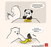 New Year's Resolution 2 by Panda And Polar Bear