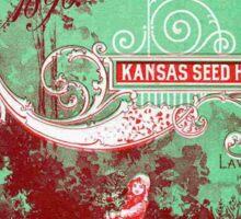 Vintage poster - Kansas Seed House Sticker