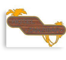 Halo, Hotel Zanzibar logo Canvas Print