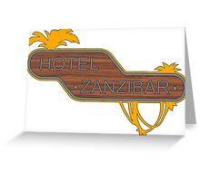Halo, Hotel Zanzibar logo Greeting Card