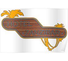 Halo, Hotel Zanzibar logo Poster