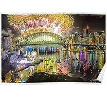 Sydney NYE Fireworks 2015 # 14 Poster