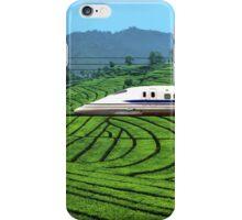 Shinkansen line in Green Tea Meadows, near Kyoto, Japan iPhone Case/Skin