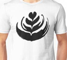 Latte Art: Tulip Black Unisex T-Shirt