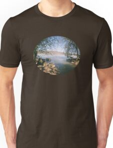 river shot with a Fisheye camera Unisex T-Shirt
