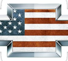 Chevrolet American Flag Logo Sticker