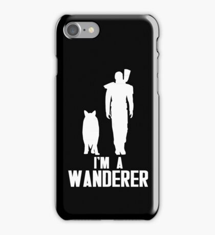 I'm A Wanderer (White) iPhone Case/Skin