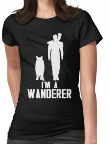 I'm A Wanderer (White) Womens Fitted T-Shirt
