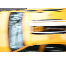 Cab at Speed Photographic Print