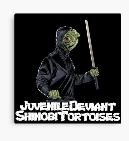 Juvenile Deviant Shinobi Tortoises Canvas Print