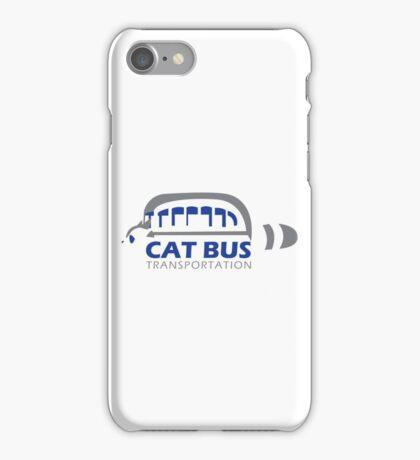 Catbus Transportation (White) iPhone Case/Skin