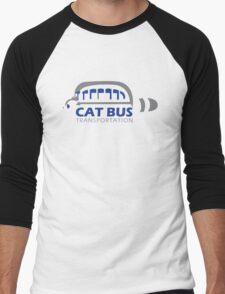 Catbus Transportation (White) Men's Baseball ¾ T-Shirt