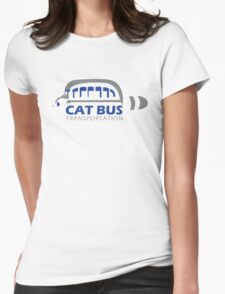 Catbus Transportation (White) Womens Fitted T-Shirt