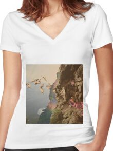 Observational Studies Women's Fitted V-Neck T-Shirt