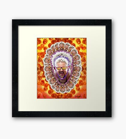 Guy Fieri's Bad Donkey Sauce Trip Framed Print