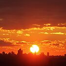 New Year Sunset in New York City  by Alberto  DeJesus