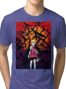Kizumonogatari Movie Cover Tri-blend T-Shirt
