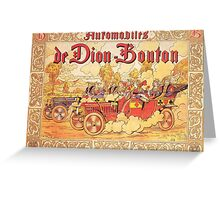 Vintage poster - De Dion Bouton Automobile Greeting Card