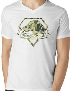 Diamond Camouflage Mens V-Neck T-Shirt