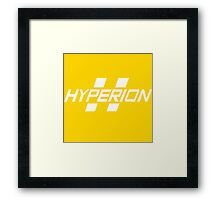 Hyperion Corporation (White) Framed Print