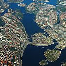 Stockholm, Sweden - Areal view by drone by Bruno Beach
