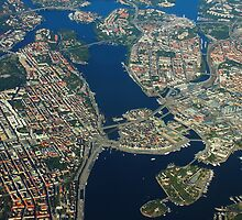 Stockholm, Sweden - Areal view by drone by Atanas NASKO