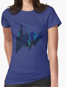 Blue Fracture Womens Fitted T-Shirt