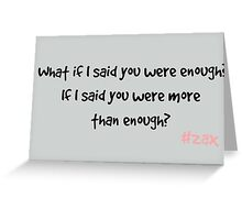 Zax Quote - Casualty Greeting Card