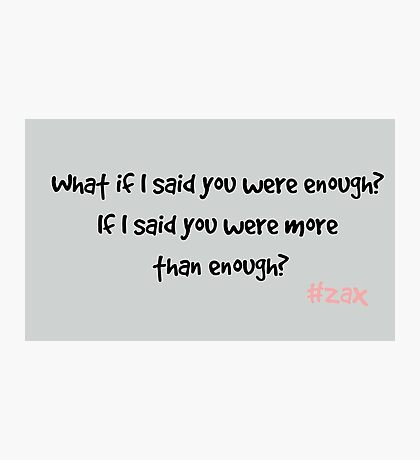 Zax Quote - Casualty Photographic Print