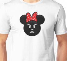 Minnie Emoji - Angry Unisex T-Shirt