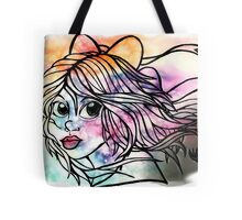 Rainbow Ribbon Little girl Tote Bag