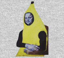 Mona Lisa Goes Bananas One Piece - Long Sleeve