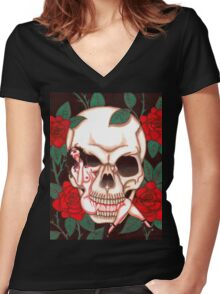 Chasing Death - Act I Women's Fitted V-Neck T-Shirt