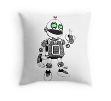 Clickety Clank Throw Pillow